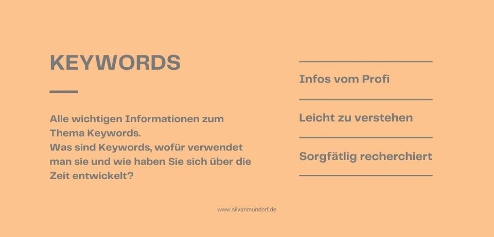 Was sind Keywords - Headerbild